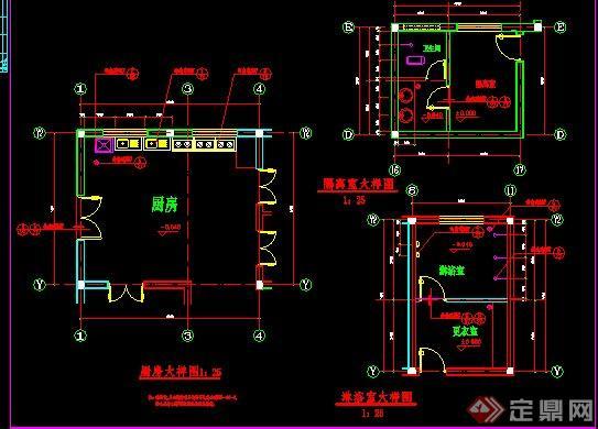 三层欧式幼儿园建筑设计cad全套施工图[原创]
