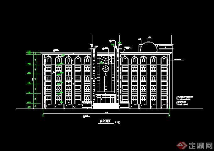 某欧式中学综合楼设计cad施工图[原创]