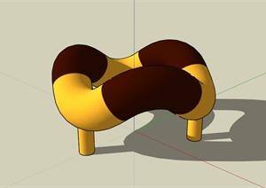 现代软管雕塑设计SU(草图大师)模型