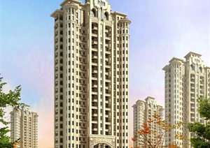 欧式风格高层住宅建筑方案图