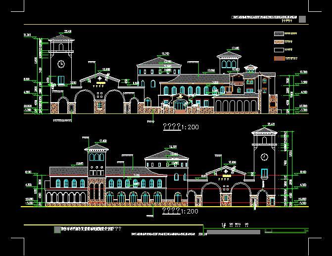 欧式幼儿园建筑设计cad方案图[原创]