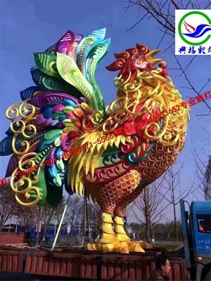 鸡年彩灯现场