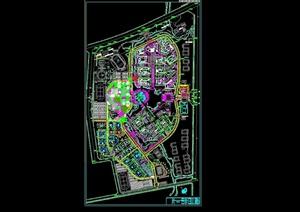 完整的规划设计cad总平面图-DWG学校校园园林景观设计方案项目资