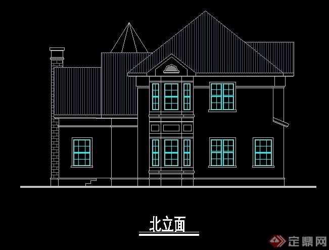 现代简约住宅别墅建筑设计cad方案[原创]