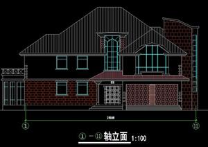 二层混搭风格别墅建筑方案