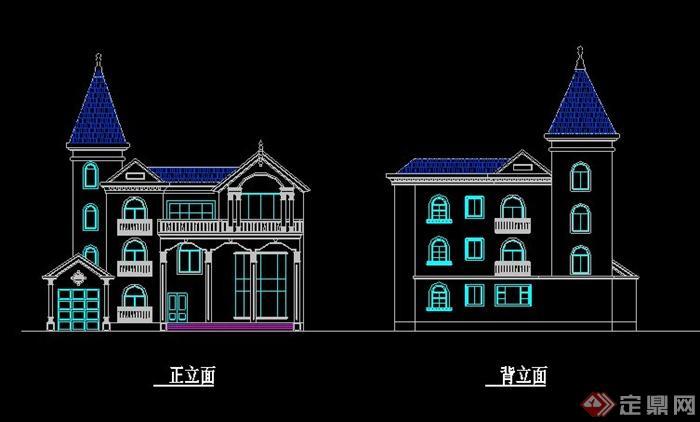 欧式风格三层别墅住宅建筑方案[原创]