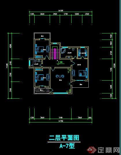 现代风格别墅建筑平面图[原创]