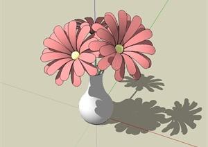某花瓶插花设计SU(草图大师)模型