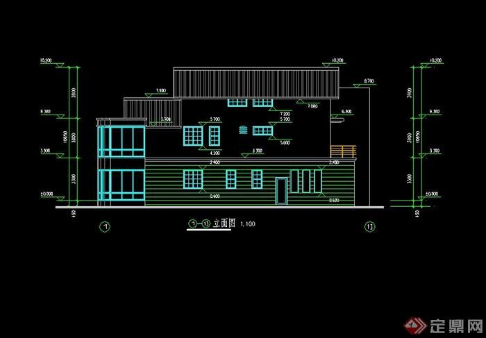 新中式风格别墅建筑设计cad平立剖[原创]