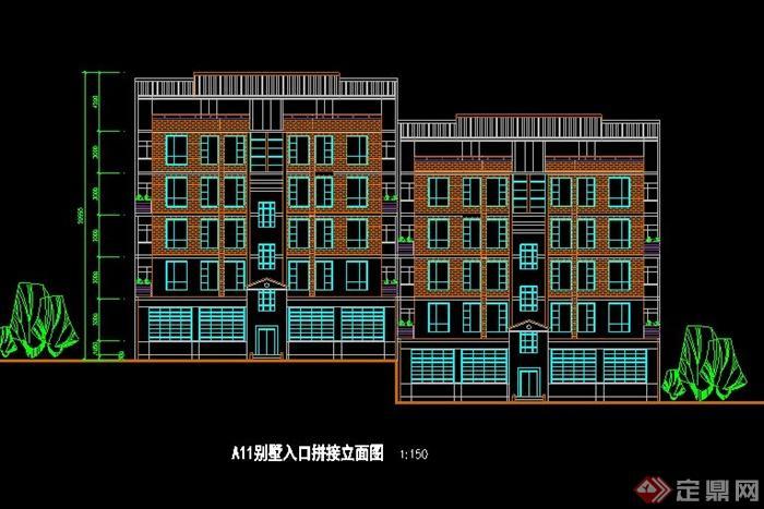 新中式花园别墅设计cad方案[原创]