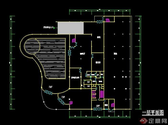 欧式风格会所建筑设计cad方案[原创]