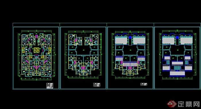 某合院别墅建筑设计CAD平面图,该设计风格为现代设计风格,为多层建筑设计,造型简约,使用广泛,包含多张平面图等,具有一定参考使用价值,欢迎下载使用。
