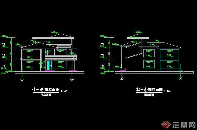 新中式风格别墅设计cad方案[原创]