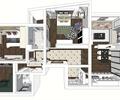 三居室,住宅设计,室内装修,户型图