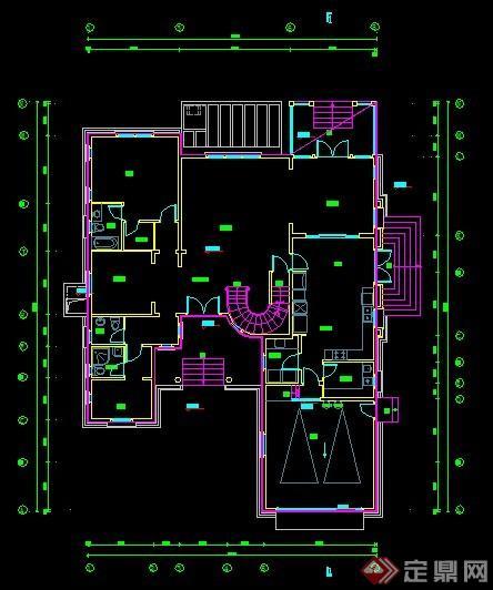 上海某欧式会所建筑设计cad方案[原创]