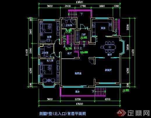 现代风格别墅CAD平面图设计