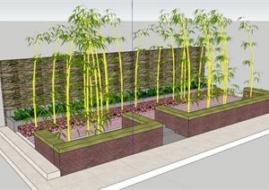 现代常见红砖树池设计SU(草图大师)模型