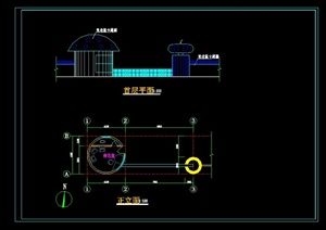 现代幼儿园大门设计cad方案图