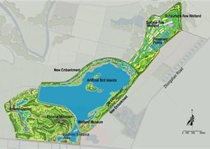 现代湿地公园景观设计方案
