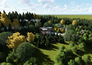 某现代风格别墅住宅爱景观漫游设计MP4文件