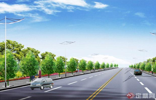 城市道路绿地的布置形式