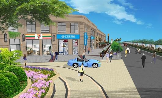 桐城市七里香溪商业街景观设计