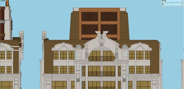 欧式连栋高层住宅楼建筑设计su模型[原创]
