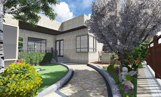 合肥金色池塘别墅庭院景观设计