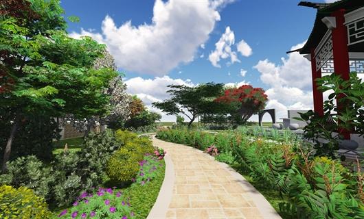 悠然南山别墅庭院景观设计