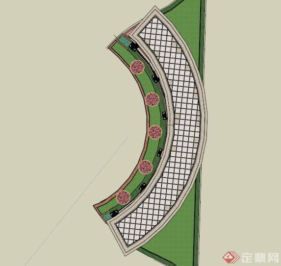 欧式景观廊道设计su模型[原创]