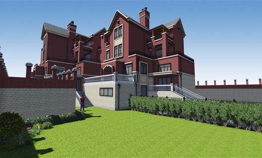 白云山国际养生度假区独栋别墅庭院景观设计