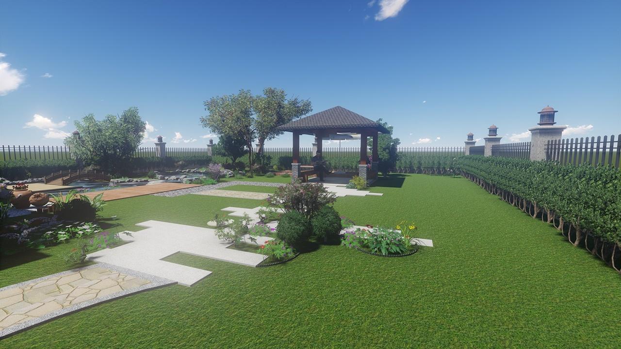 合肥绿色港湾别墅庭院景观设计图片