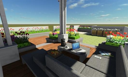 深圳某烟草局长私宅屋顶花园景观设计