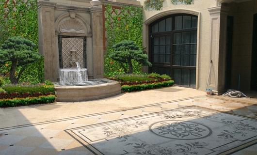 合肥绿城玫瑰园别墅庭院景观设计