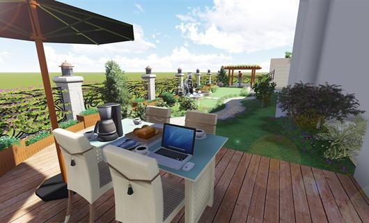 合肥乔治庄园别墅庭院景观设计