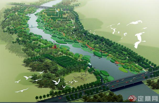 某带状滨河公园景观规划方案[原创]