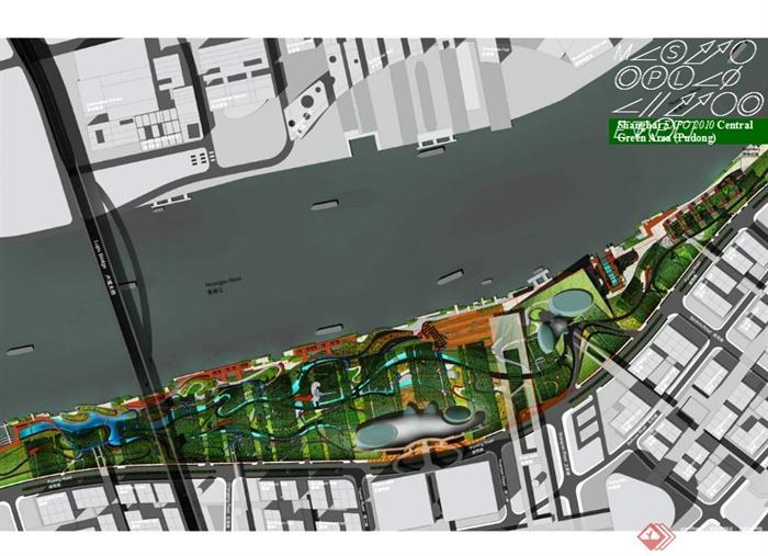 世博中心绿地公园景观设计ppt方案[原创]图片