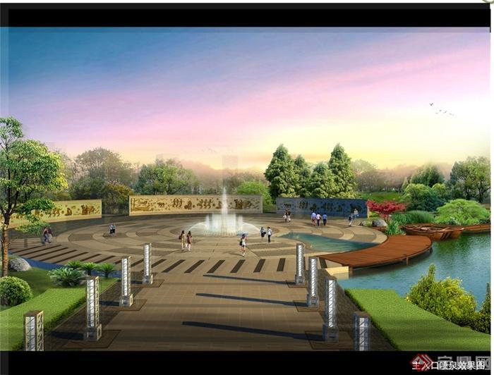 某古典中式风格公园规划设计jpg文本[原创]