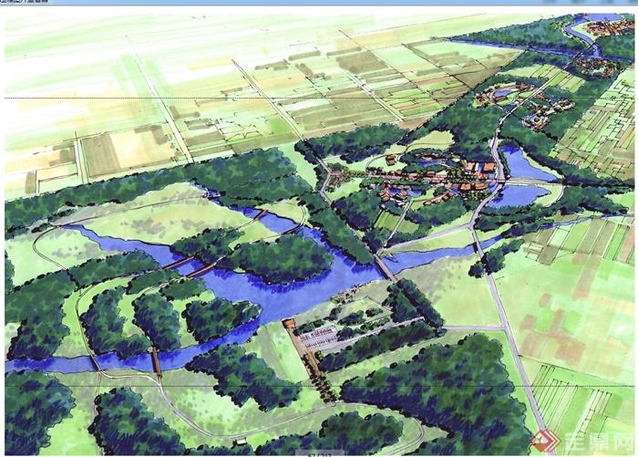 某现代风格湿地国家生态公园规划设计jpg方案文本[原创]图片