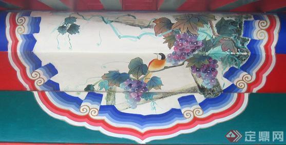 金琢墨苏画是苏式彩绘中最华丽的一种,用金量大,包袱内的画面很精致图片