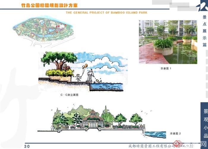 某现代风格公园总体规划设计ppt方案[原创]