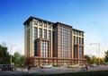 某新古典风格精致综合办公楼建筑设计3d模型含效果图