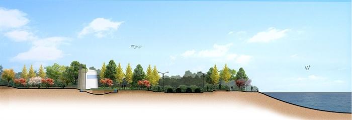 6款驳岸景观断面设计图psd格式