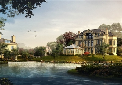 某三层欧式法式别墅住宅建筑cad方案设计(含效果图)