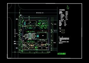 某现代厂区绿化总平面cad布置图