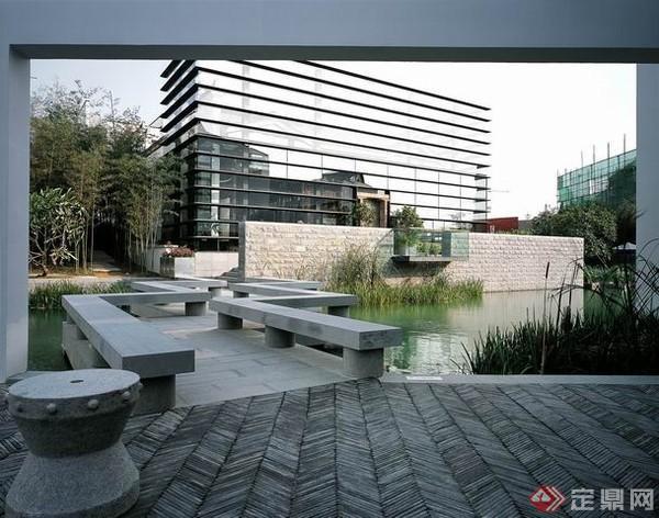 现代中式别墅景观设计