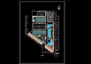 某现代风格详细工厂总体规划cad方案图