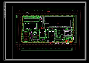 某工厂绿化设计cad平面图