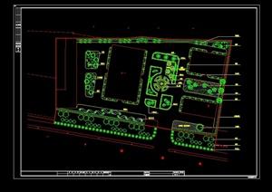 某厂区绿化详细设计cad方案图