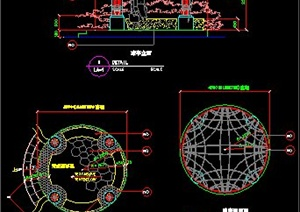 中式铁艺凉亭设计图